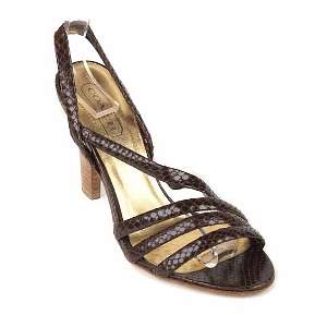 coach brown beatriz heels