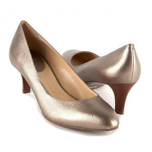 cole haan gold hana air mid pump heels