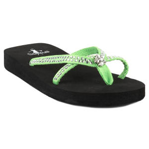 corkys green weather sandals