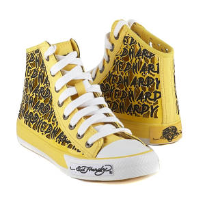 ed hardy yellow resoudre sneaker