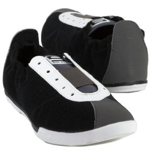 nine west original sneakers black scrunch casuals