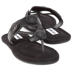 steve madden black kiwii sandals