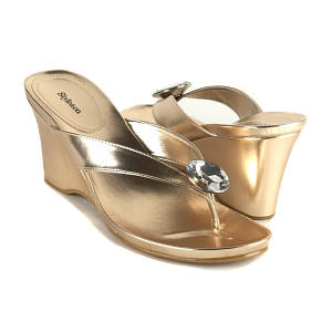 style co gold royal heels